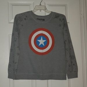 Captain America shield sweatshirt, XL